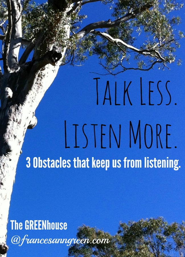 Want to be a better listener? Pay attention to these 3 obstacles that keep us from listening well.