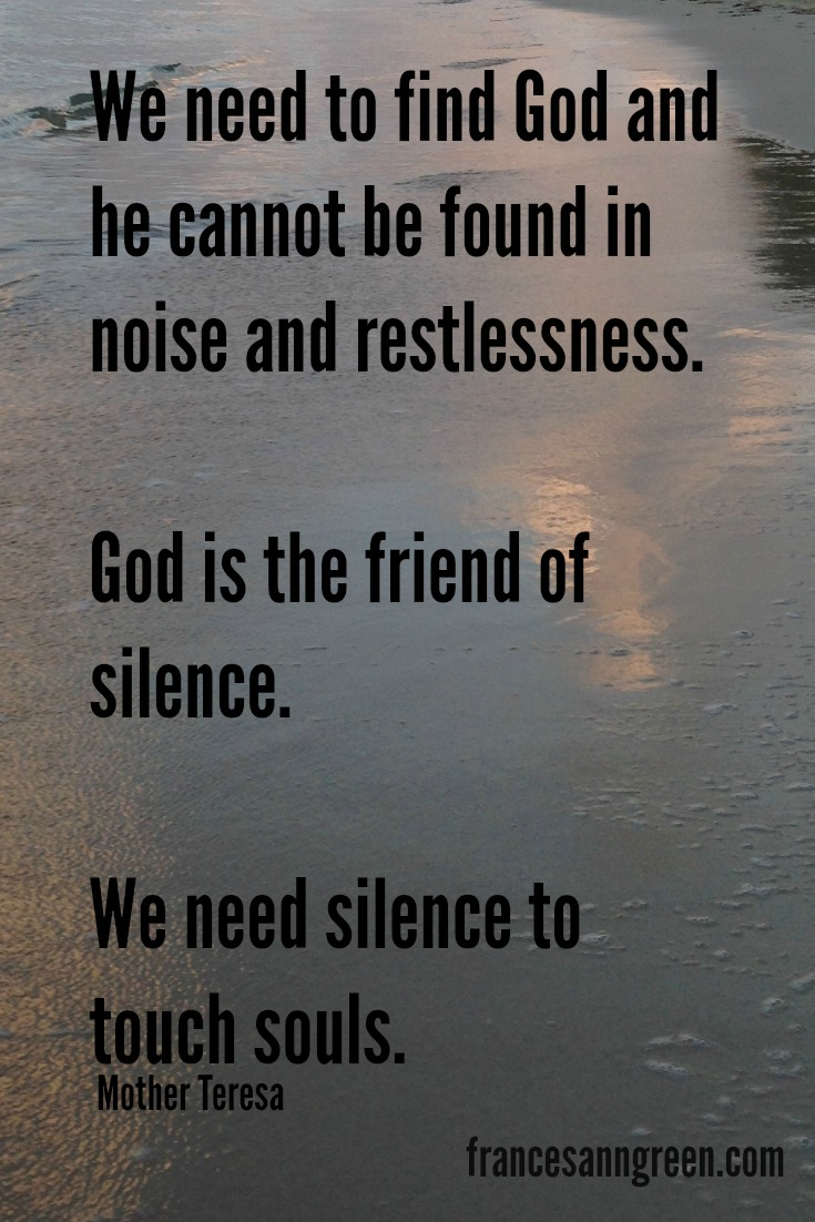 Inspiring quote about Mother Teresa about silence