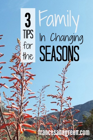 3 Tips for the family in changing seasons - Do you long for the next season? Or cling to the past? Read here to embrace the season you are in.